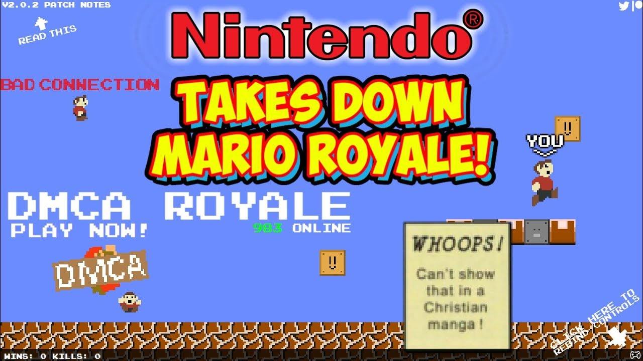 Nintendo Takes Down Mario Royale! Now Replaced With DMCA Royale!