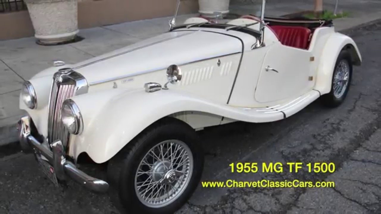 1955 MG TF 1500 For Sale. Charvet Classic Cars - YouTube