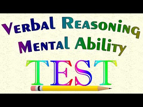 Verbal Reasoning Mental Ability Test | Youtube 2016