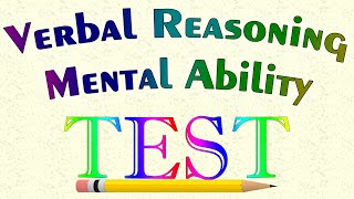 Verbal Reasoning Mental Ability Test | Youtube 2016