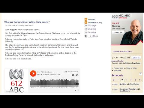 Peter Van-Duyn - ABC Radio