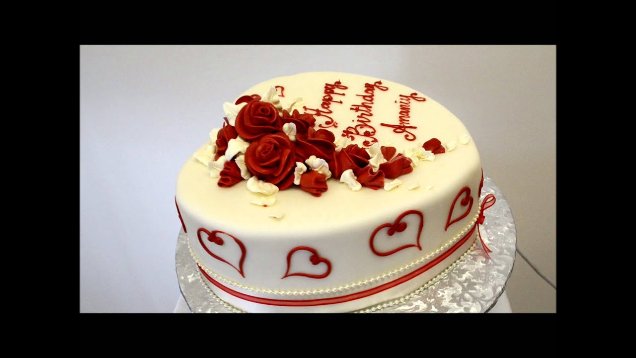 Valentine Day Cake - Love Cake - YouTube