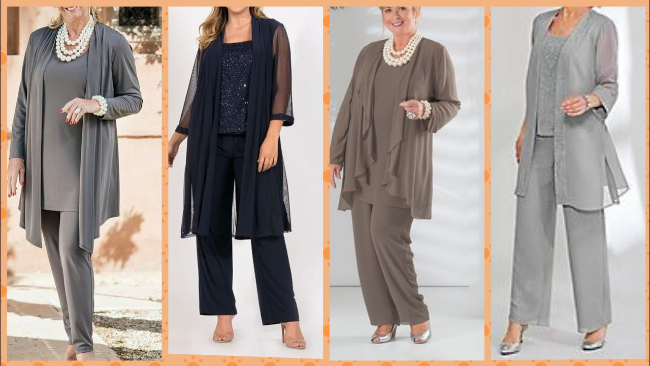 Outstanding plus size pants coats two peace business dresses collection 2019