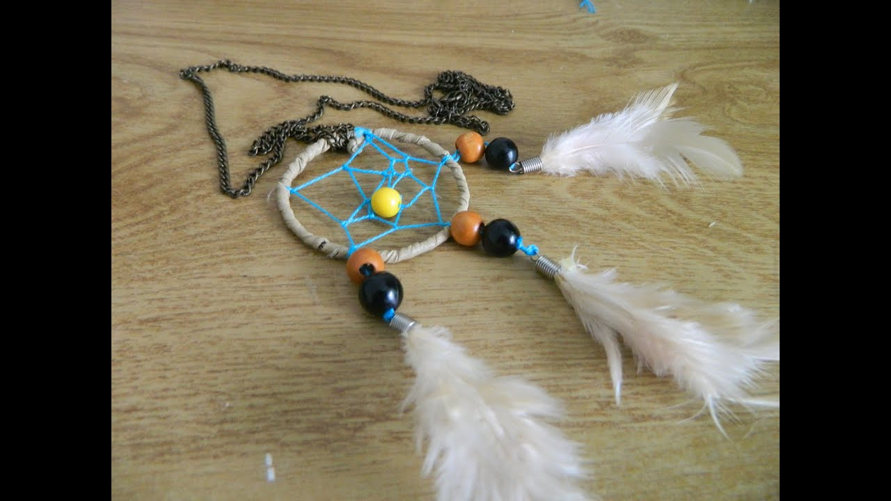 How To Make Dream Catcher Necklace DIY dreamcatcher necklace YouTube 22
