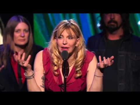 Kurt Cobain's mother, sisters & Courtney Love Nirvana HBO (PRO Shot) Rock Hall of Fame 2014