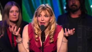 Kurt Cobain's mother, sisters & Courtney Love Nirvana HBO (PRO Shot) Rock Hall of Fame 2014