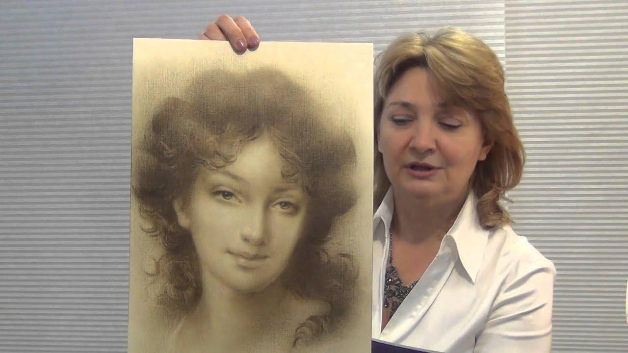"""Как нарисовать Портрет девушки, """"сухая кисть"""". Живописный ..."""