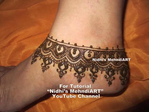 Mehndi Ankle Images : Eid 2016 special beautiful anklet ornament jewellery inspired feet