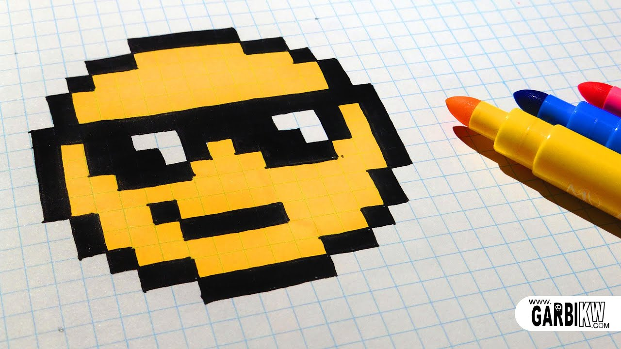 Connu Handmade Pixel Art - How To Draw The Sunglasses emoji #pixelart  ZX04