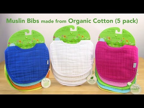green sprouts® Muslin Bibs made from Organic Cotton