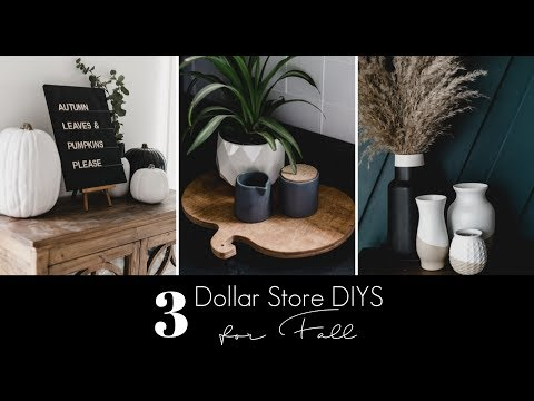 DIY DOLLAR STORE FALL DECOR | A letterboard, a tray, and new vases!