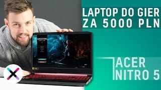 NAJLEPSZY LAPTOP DO GIER ZA 5000 ZŁ? 🔥 | Test, recenzja Acer Nitro 5 z i7-9750H, GTX 1660Ti, 120Hz!