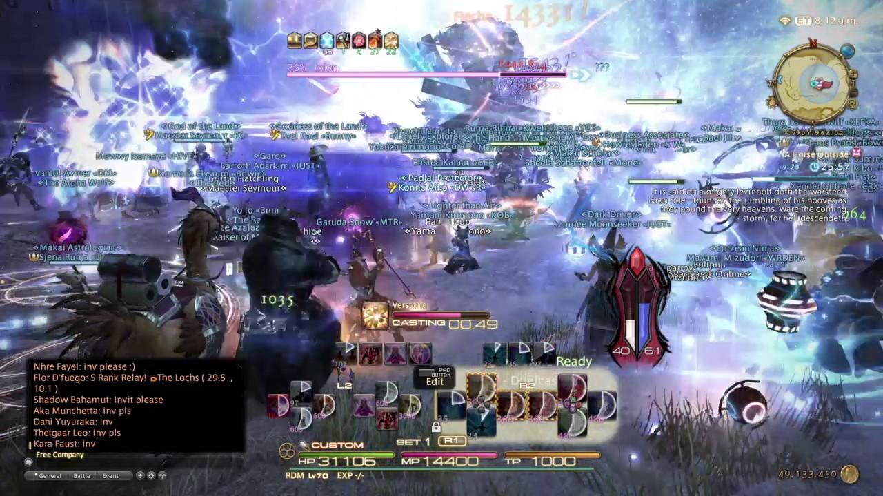 FFXIV Stormblood- Ixion Fate- Cerberus Server