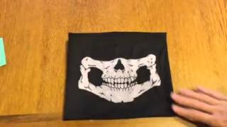 Motorcycle Face Masks 2 Pieces Xpassion Skull Mask Review, Can be worn in so many ways
