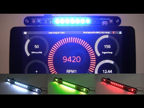 ShiftX2 - RGB sequential shift light and alerts by AutosportLabs