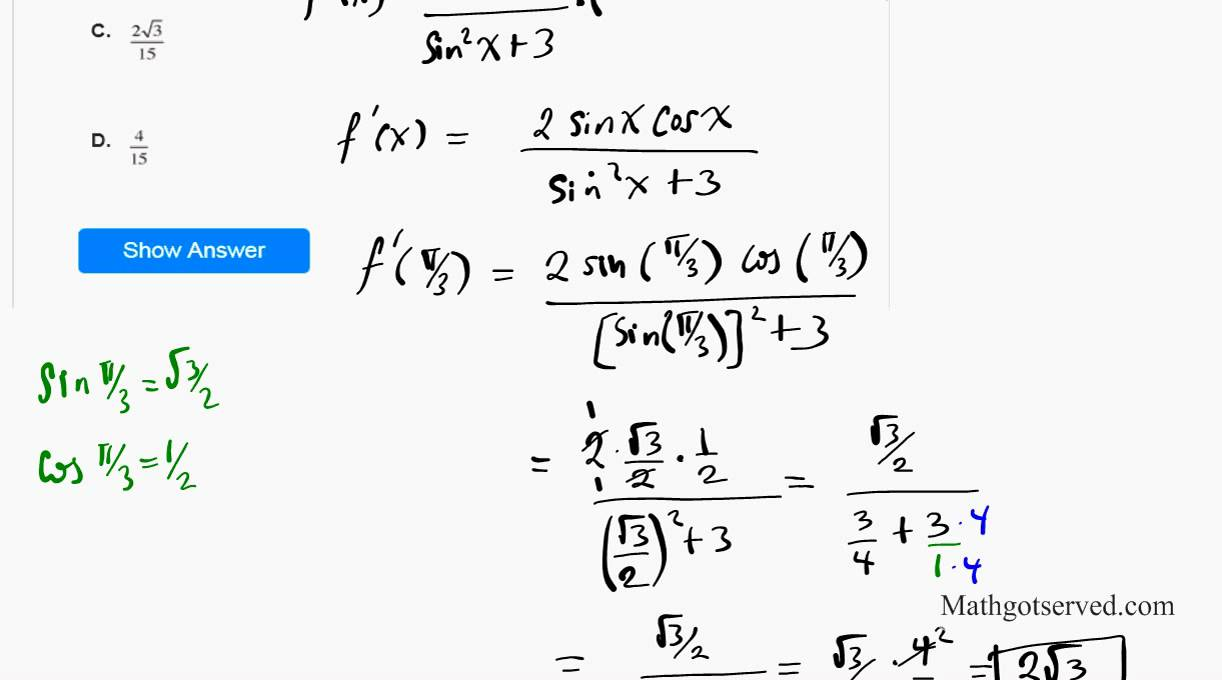 CLEP Calculus sample Test questions College board Exams - YouTube