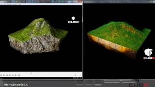 Уроки Cinema 4D: Земля, срез почвы, рельеф грунта