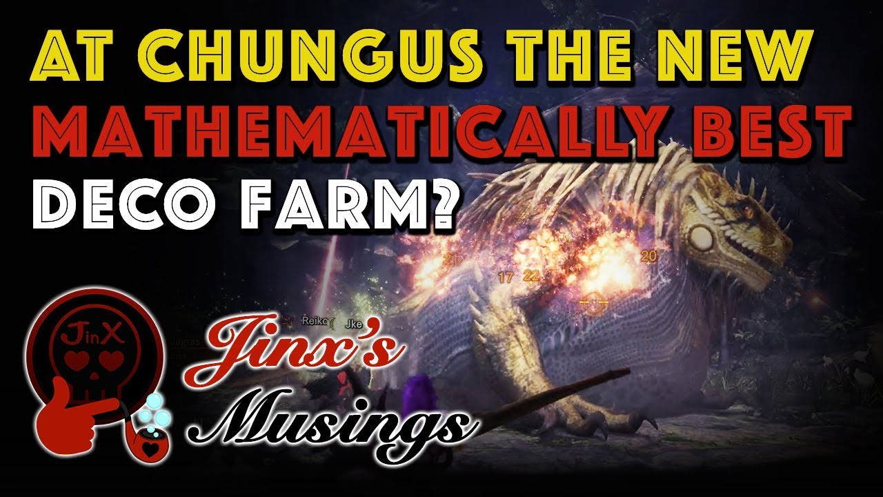 JM: 'The Greatest Jagras' Decoration Farming Math [MHW ...