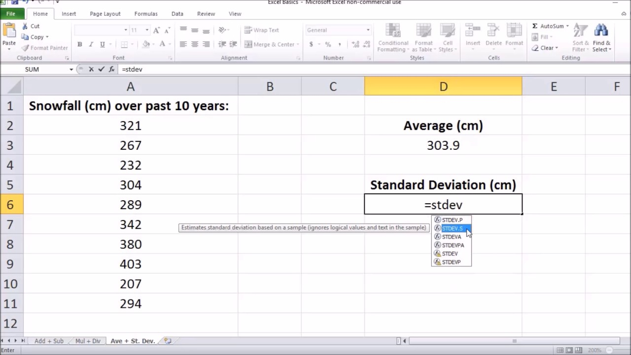 5 tips for understanding standard deviation - How To Find Average And Standard Deviation In Microsoft Excel 2017