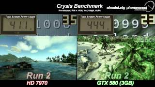 hd 7970 vs gtx580 3gb in the crysis benchmark round 3
