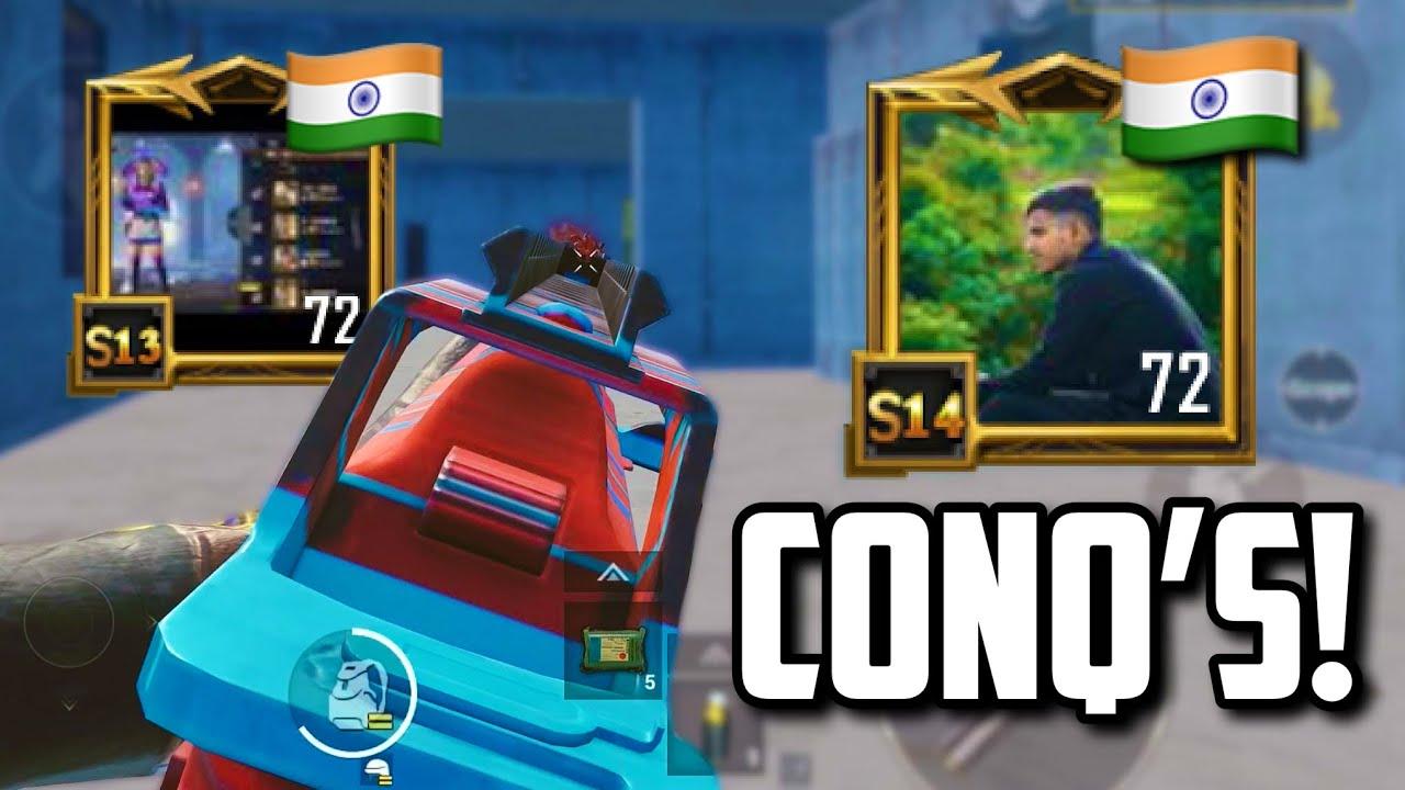 Indian CONQUERORS versus a SIX FINGER player!   PUBG Mobile