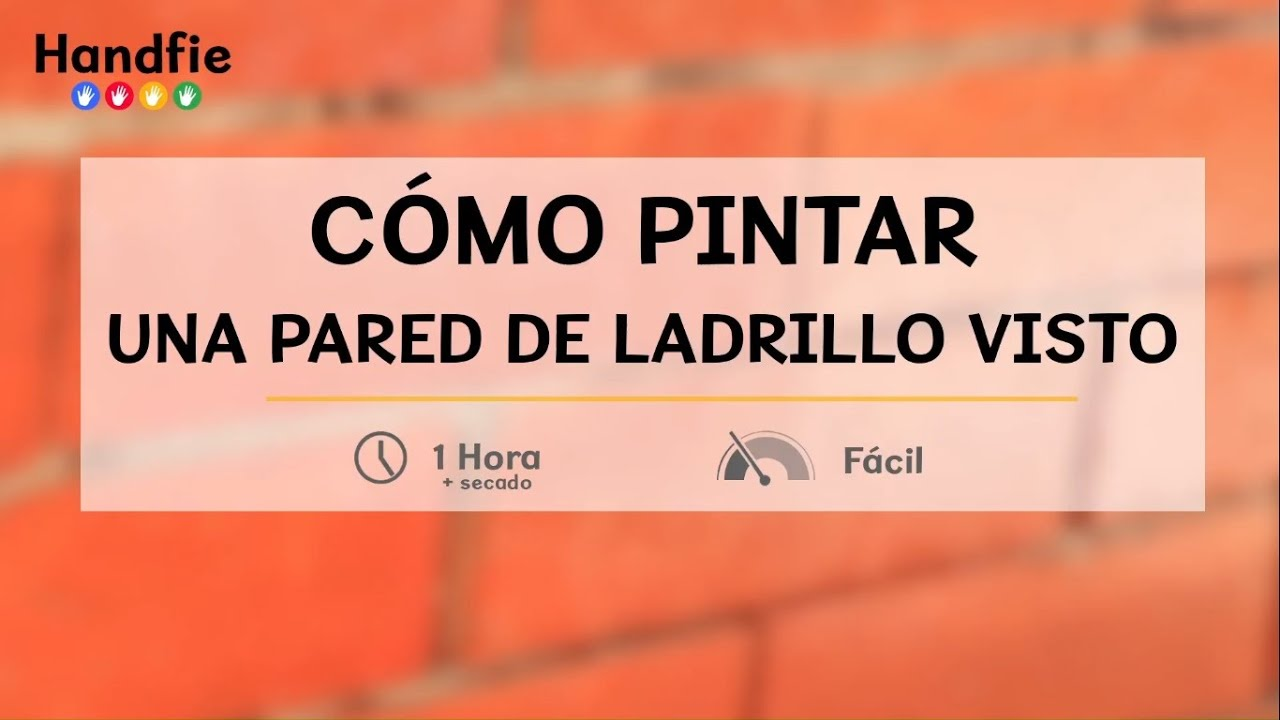 C mo pintar una pared de ladrillo visto handfie diy for Como revestir una pared con ceramica