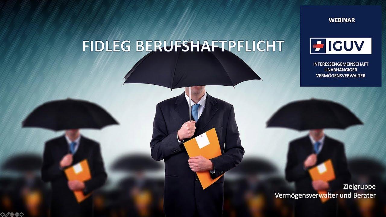 WEBINAR Berufshaftpflicht für Vermögensverwalter und Berater