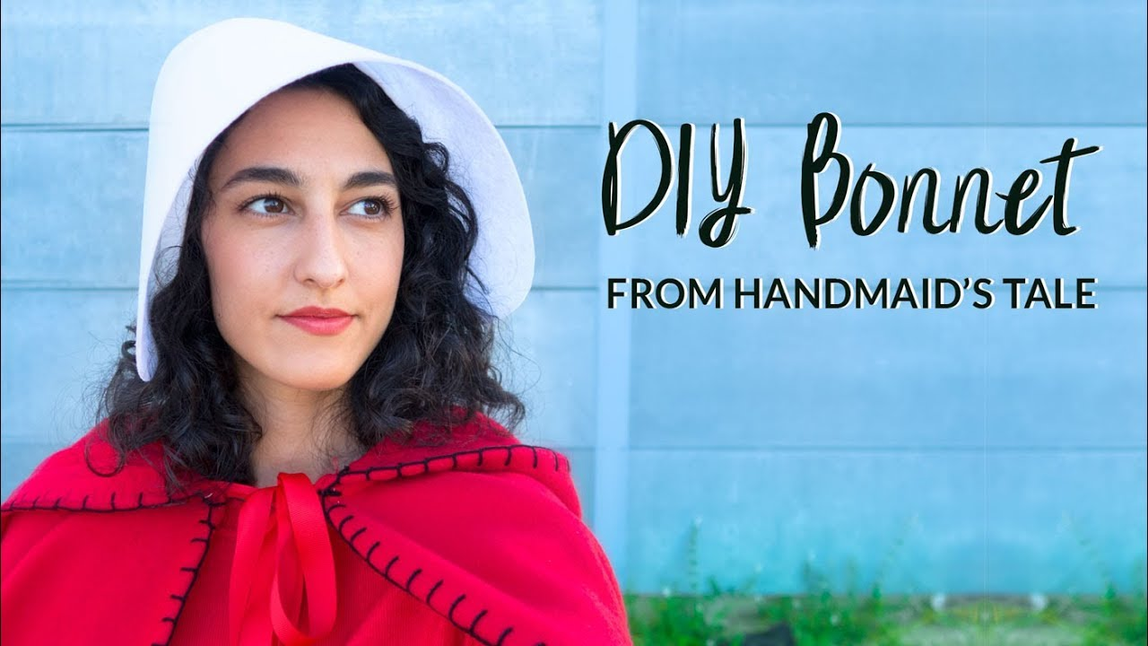 Diy super simple the handmaids tale inspired bonnet diy costume diy super simple the handmaids tale inspired bonnet diy costume curly made solutioingenieria Choice Image