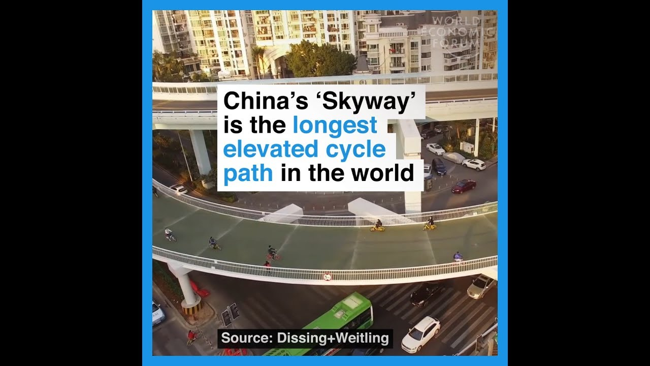 China's 'Skyway' is the longest elevated cycle path in the world
