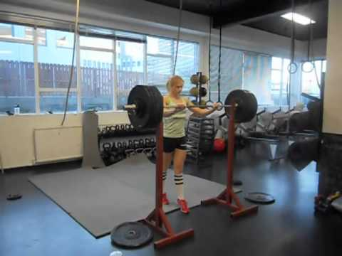 CrossFit - Annie T Split Jerks 206lbs for WOD 101227