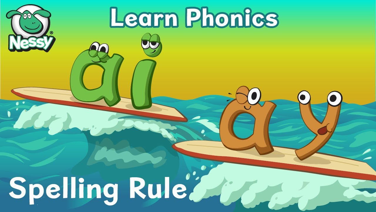 medium resolution of Nessy Spelling Strategy   When To Use ai ay   Vowel Digraphs   Learn to  Spell - YouTube