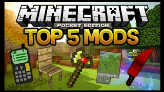 TOP 5 MODS PARA MINECRAFT PE 1.1 !!