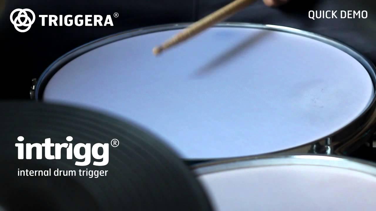 Internal drum trigger - Intrigg (quick demo) - Triggera