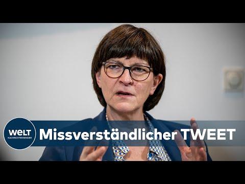 """SPD-VORSITZENDE: Esken polarisiert mit """"Antifa""""-Tweet"""