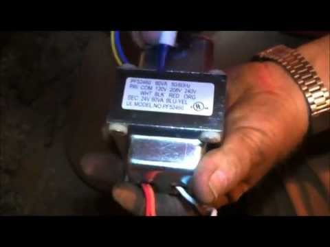 Repair My Own Air Conditioner - Wiring a Transformer - YouTube