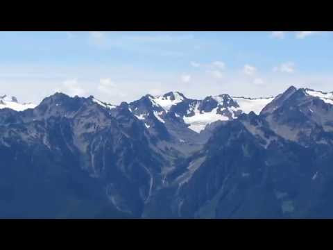 Olympic Mountains from Hurricane Ridge & Obstruction Point, Washington