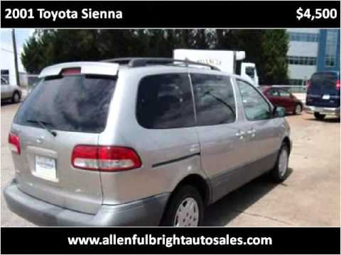2001 Toyota Sienna Used Cars Greenville Sc Youtube