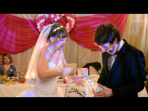 оригинальный подарок на свадьбе 19 06 2015 ресторан Лапландия