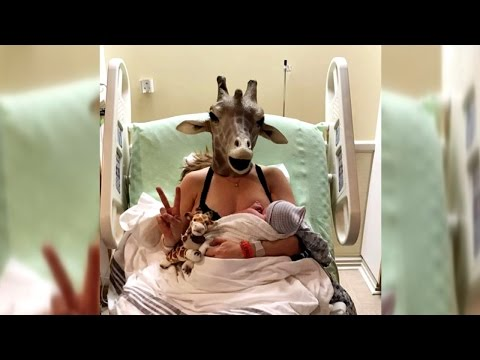 Download Youtube: Mom In Mask Who Spoofed April The Giraffe Gives Birth To Baby Boy