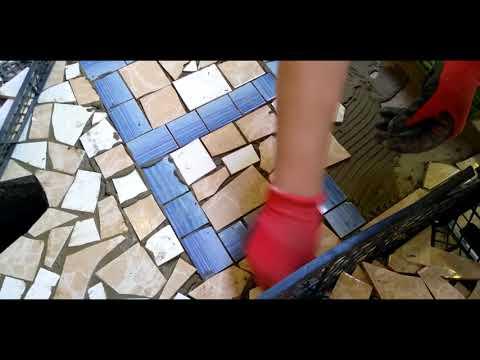 Мозаика плитка своими руками видео