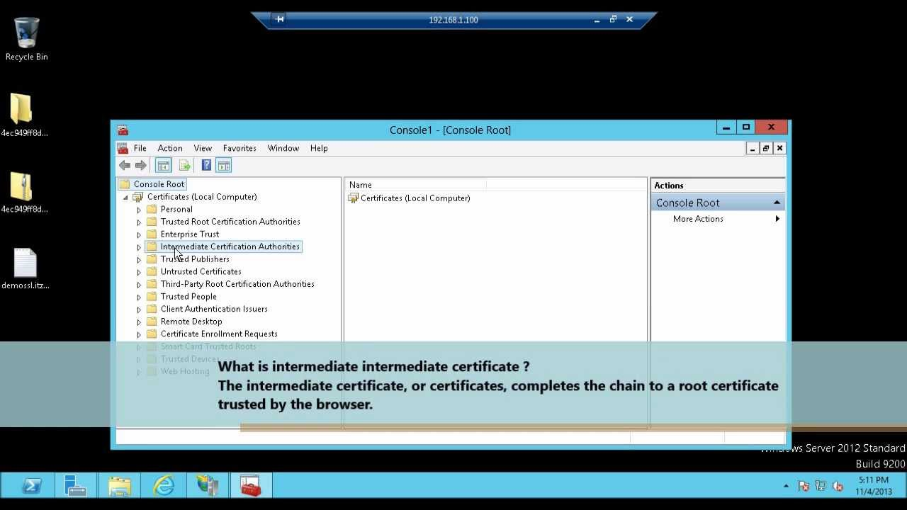 Complete certificate request in iis 8 ssl certificate part 4 complete certificate request in iis 8 ssl certificate part 4 youtube xflitez Images