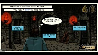 Lovecraft Quest - A Comix Game (by OGUREC APPS) - adventure game for android - gameplay.
