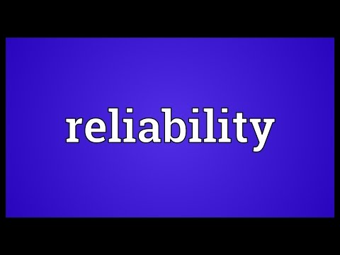 Reliability Meaning