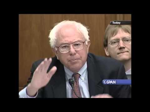Bernie Sanders vs. Alan Greenspan (Best Video Quality)