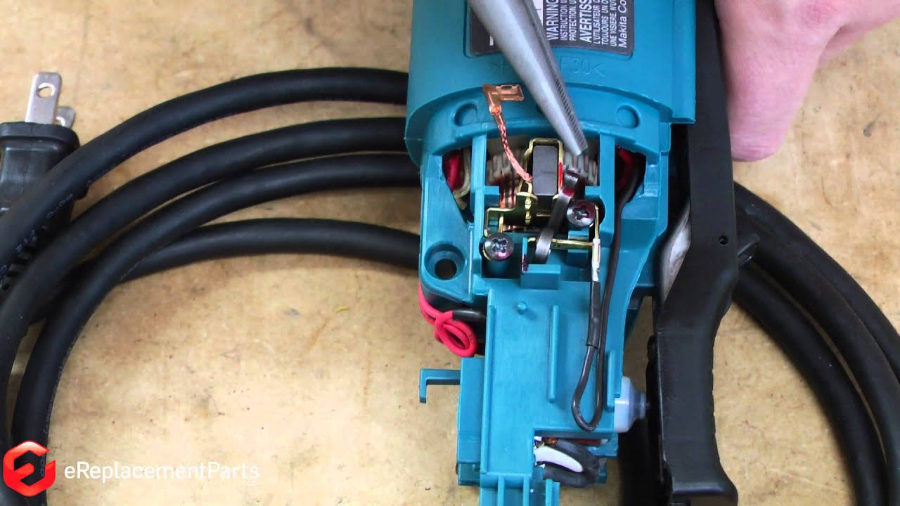 how to replace the brushes on a makita grinder a quick fix youtube makita router makita grinder wire diagram [ 1280 x 720 Pixel ]