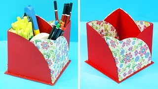 DIY Pen stand from Paper & Waste Cardboard   How to make Pen Stand / Pencil Stand   DIY Paper Crafts