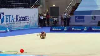 Суша Анастасия,мяч.Первенство России по художественной гимнастике г.Казань 2014