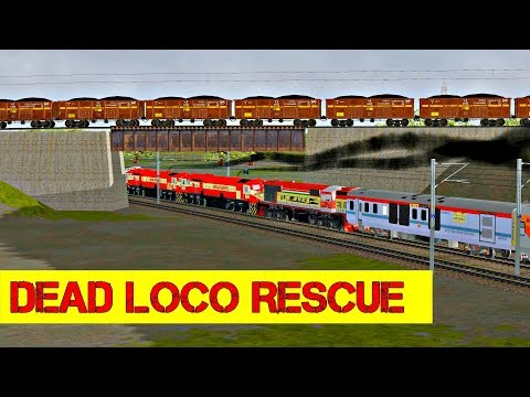 Dead Loco Rescue   Gaya Chennai Egmore Weekly Exp Part 2 in MSTS Open Rails