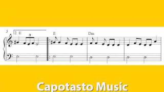 Easy piano sheet music notes, Hava Nagila