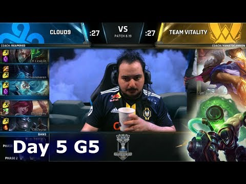 C9 vs VIT | Day 5 Group Stage S8 LoL Worlds 2018 | Cloud 9 vs Vitality